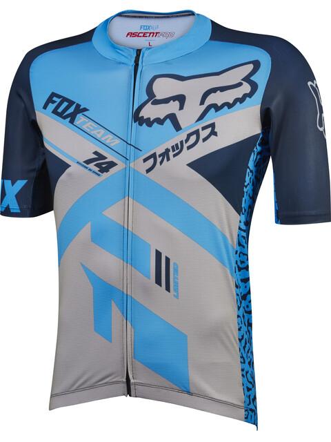 Fox Ascent Pro Miehet Pyöräilypaita lyhythihainen , harmaa/sininen